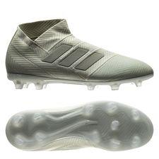 adidas nemeziz 18+ fg/ag spectral mode - sølv/hvid børn - fodboldstøvler