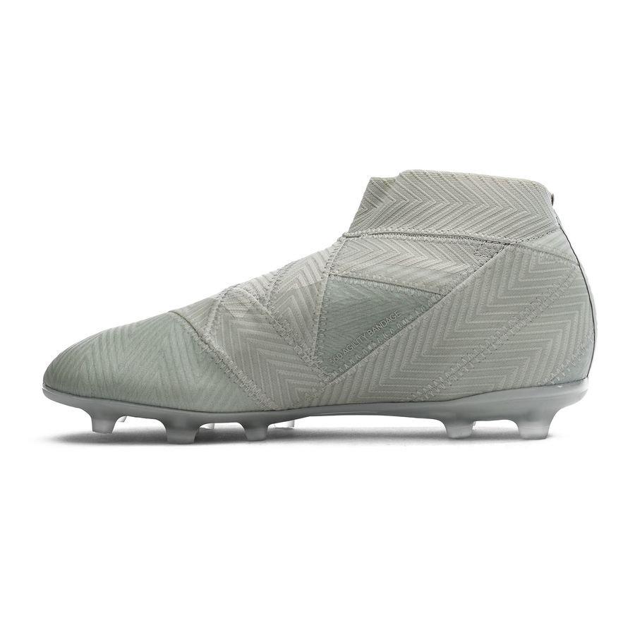 outlet store 90bd3 cc271 adidas nemeziz 18+ fgag spectral mode - sølvhvit barn - fotballsko