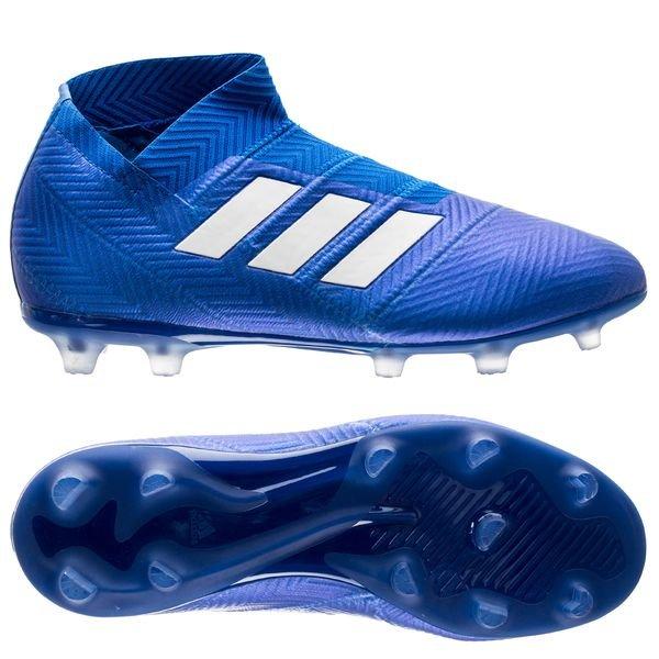 f9d491fef adidas Nemeziz 18+ FG AG Team Mode - Blue Footwear White Kids