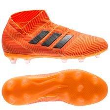 adidas Nemeziz 18+ FG/AG Energy Mode - Oranje/Zwart Kinderen
