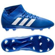 adidas Nemeziz 18.3 FG/AG Team Mode - Blauw/Wit Kinderen