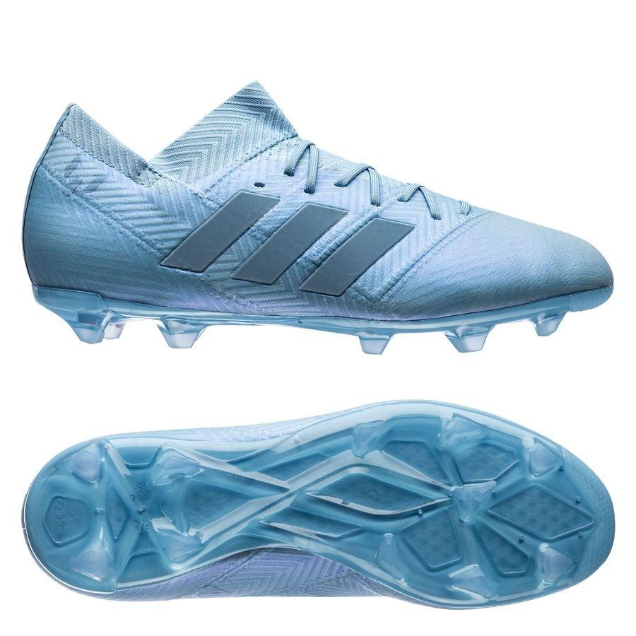 54f9677f6858 adidas nemeziz messi 18.1 fg ag spectral mode - blue gold metallic kids ...