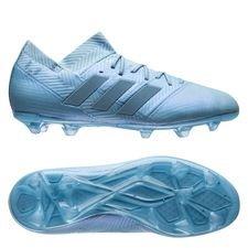 adidas nemeziz messi 18.1 fg/ag spectral mode - blå/guld børn - fodboldstøvler