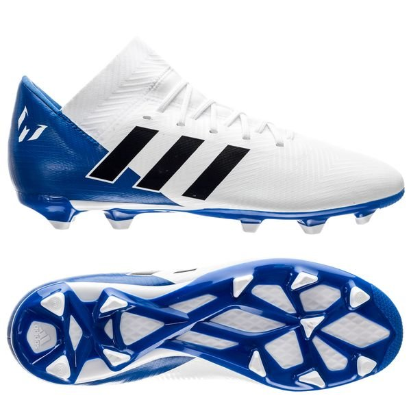 adidas Nemeziz Messi 18.3 Firm Ground Football Boots Trainers Shoes White Kids