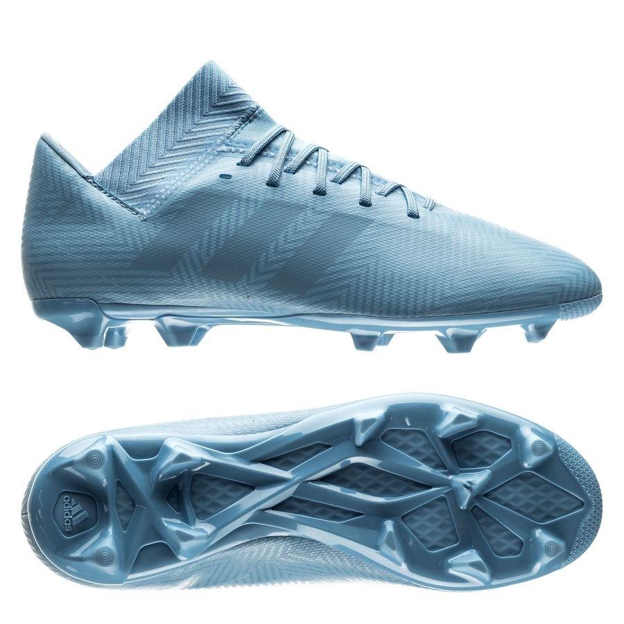 bae4143605cf adidas Nemeziz Messi 18.3 FG AG Spectral Mode - Blue Raw Green Kids ...