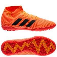 adidas nemeziz tango 18.3 tf energy mode - orange/sort børn - fodboldstøvler