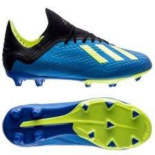 adidas X 18.1 FG/AG Energy Mode - Blauw/Geel Kinderen