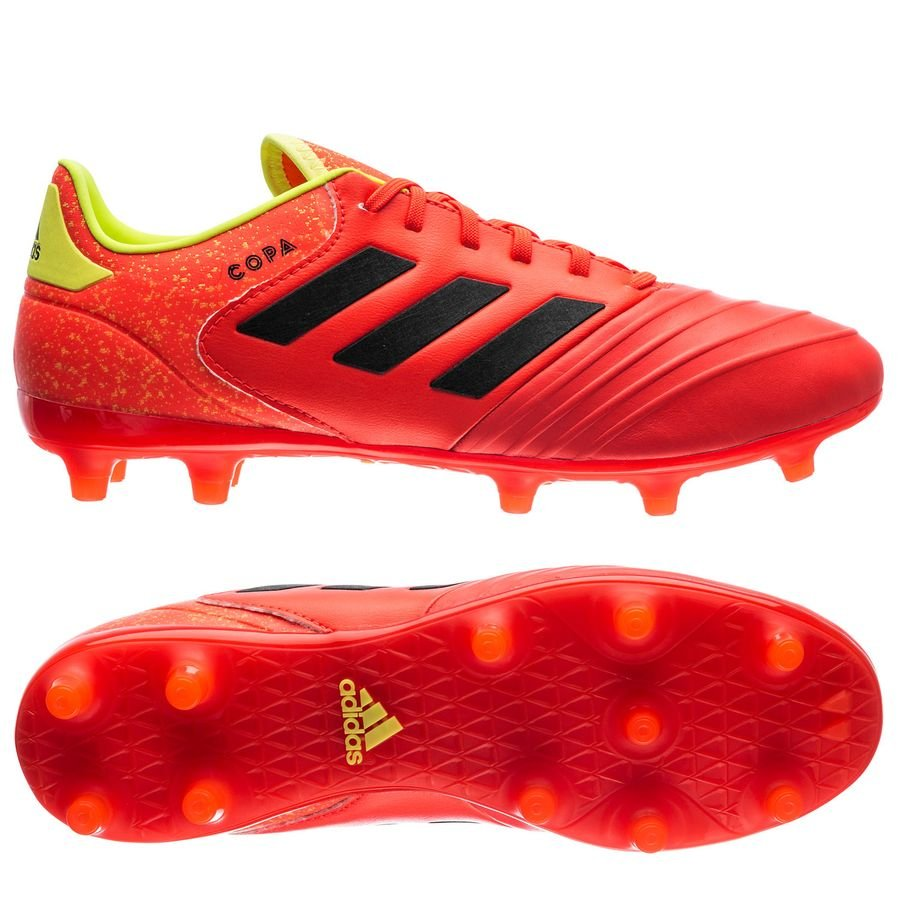 new style 95a88 8fff2 adidas copa 18.2 fgag energy mode - rödgul - fotbollsskor ...