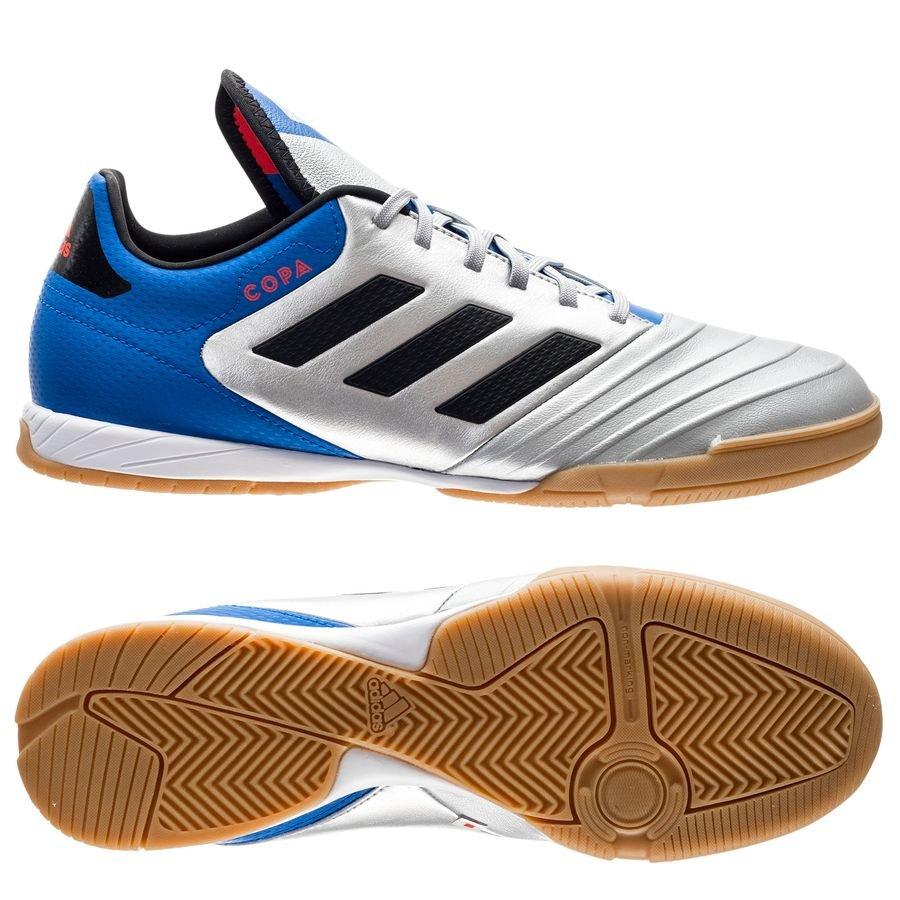adidas Copa Tango 18.3 IN Team Mode - Argenté/Noir/Bleu