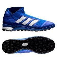 adidas nemeziz tango 18+ tf team mode - blå/hvid - fodboldstøvler
