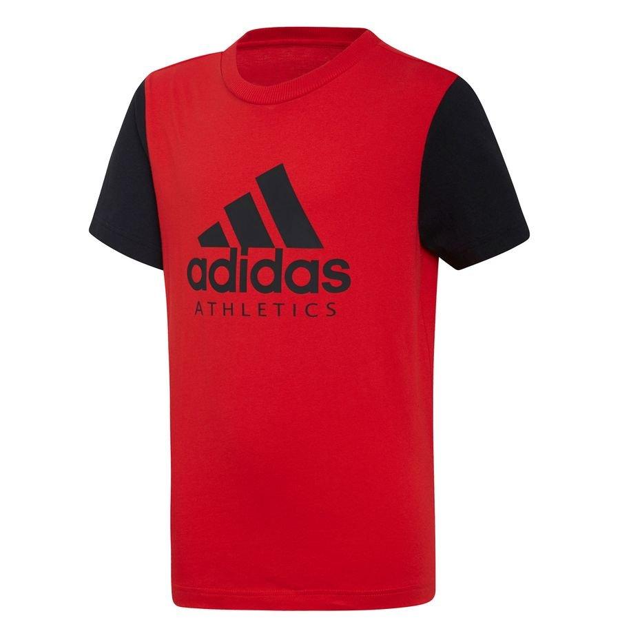 adidas T-Shirt SID - Rød/Sort Børn