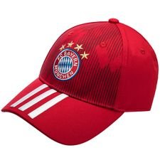 Image of   Bayern München Kasket 3S - Rød/Hvid