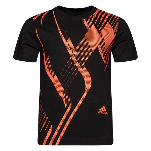 adidas T Shirt Predator BlackSolar Red Kids
