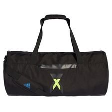 adidas sportstaske duffel icon x - sort/gul - tasker