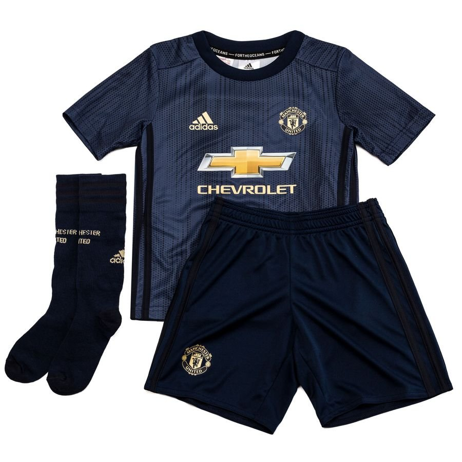 new styles f817a 7a4f8 Manchester United Third Shirt 2018/19 Mini-Kit Parley Kids
