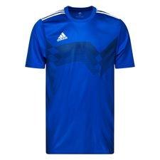 adidas spilletrøje campeon 19 - blå/hvid - t-shirts