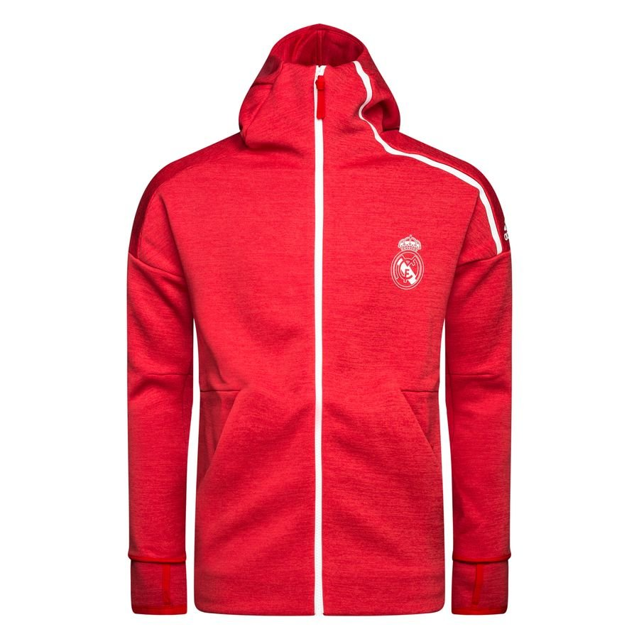 Real Madrid Sweat à Capuche Z.N.E. - Rouge/Corail
