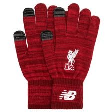 liverpool knitted gloves - red/white - gloves