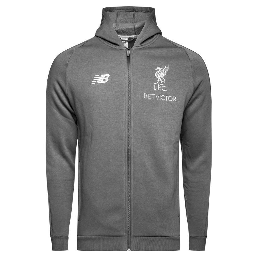 Liverpool Sweat à Capuche FZ Elite - Gris/Blanc