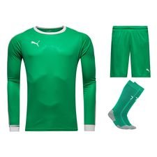 puma goalkeepers kit  liga - bright green/white - football shirts