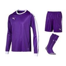 puma målvaktsställ liga - lila/vit barn - fotbollströjor