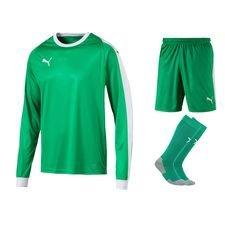 puma målmandssæt liga - grøn/hvid børn - fodboldtrøjer