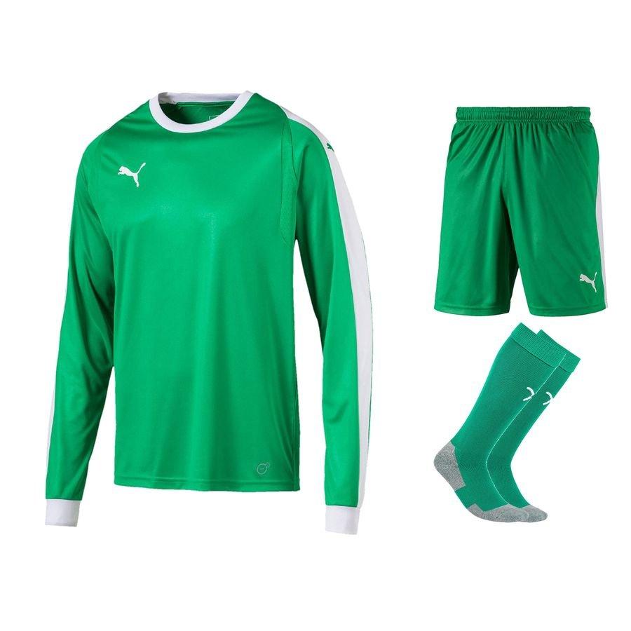 1800adf74 PUMA Goalkeepers Kit LIGA - Bright Green White Kids