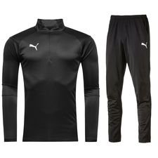 puma liga tracksuit - black - track suits