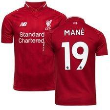 liverpool home shirt 2018/19 mane 19 kids - football shirts