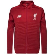 liverpool training jacket walk out elite - red/white kids - jackets