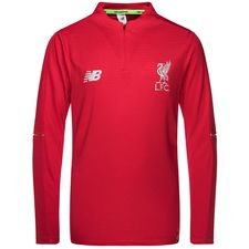 liverpool training shirt midlayer elite - red/white kids - track tops