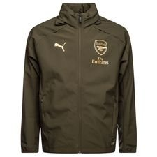arsenal rain jacket hooded - brown/gold - rain jackets