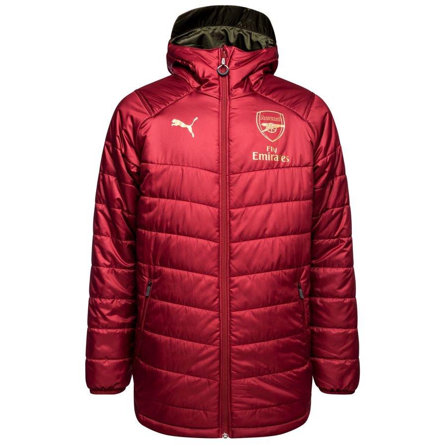 Arsenal Vinterjakke Lang Vendbar RødBrun