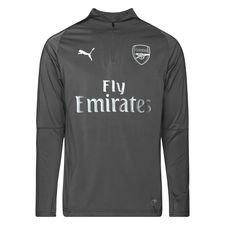Arsenal Träningströja 1/4 Blixtlås - Grå