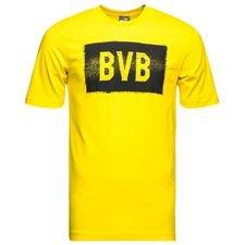 dortmund t-shirt stencil - gul/svart barn - t-shirts