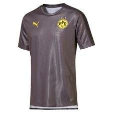dortmund trænings t-shirt stadium - grå/sort - træningstrøjer