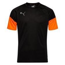 puma trænings t-shirt ftblnxt uprising - sort/orange - træningstrøjer