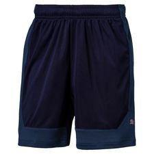 puma shorts ftblnxt stun - navy/blå barn - träningsshorts