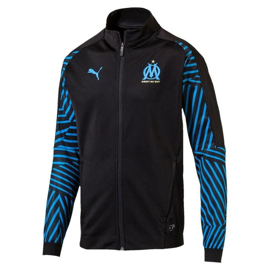 Marseille Veste Stadium - Noir/Bleu Enfant