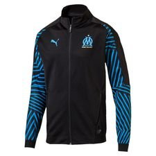 Marseille Stadium Jacket - PUMA Black/Bleu Azur Kids