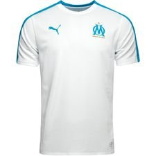 Marseille Training T-Shirt Stadium - PUMA White/Bleu Azur Kids