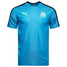 Marseille Training T-Shirt Stadium - Bleu Azur/PUMA Black Kids