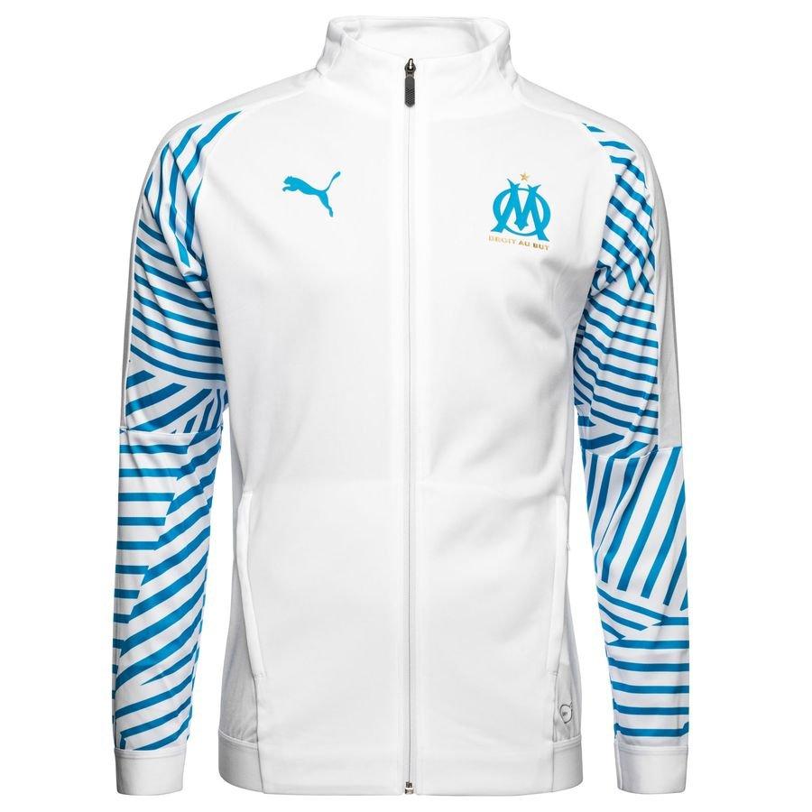 Marseille Veste Stadium - Blanc/Bleu
