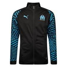 Image of   Marseille Stadionjakke - Sort/Blå