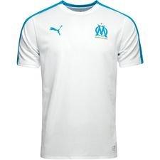 marseille tränings t-shirt stadium - vit/blå - träningsöverdel
