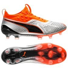PUMA One 1 SYN FG/AG Uprising - Silver/Orange/Svart