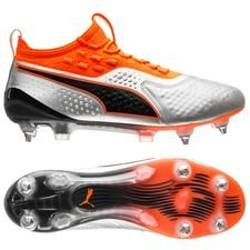 PUMA One 1 SG Uprising - Silber/Orange/Schwarz