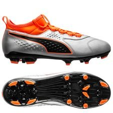PUMA One 3 AG Uprising - Puma Silver/Shocking Orange/PUMA Black Kids