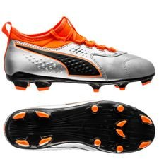 PUMA One 3 FG Uprising - Puma Silver/Shocking Orange/PUMA Black Kids