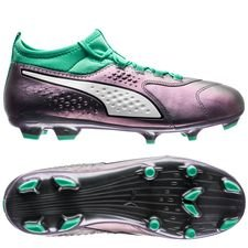 PUMA One 3 FG Illuminate Pack - Paars/Turquoise Kinderen